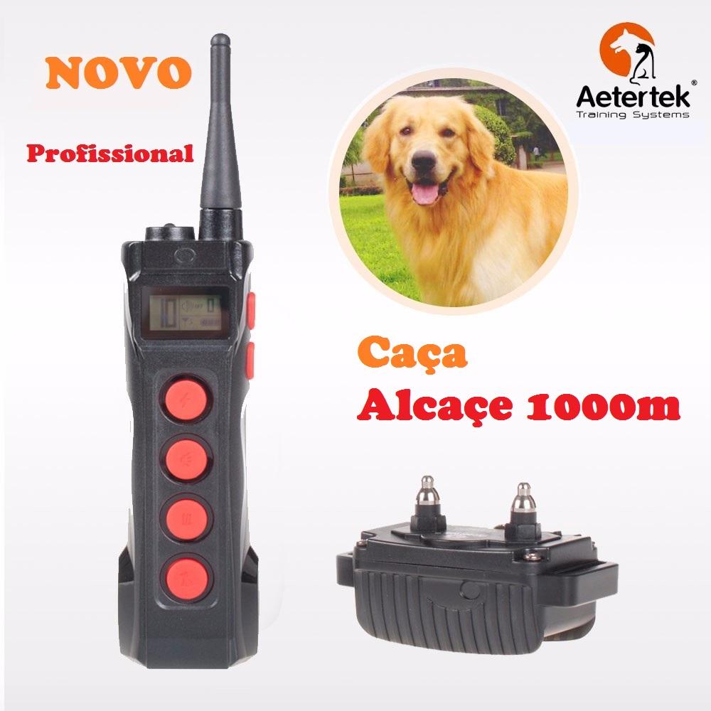 Coleira para adestramento de cães Aetertek AT-919C, alcance 1000m 1