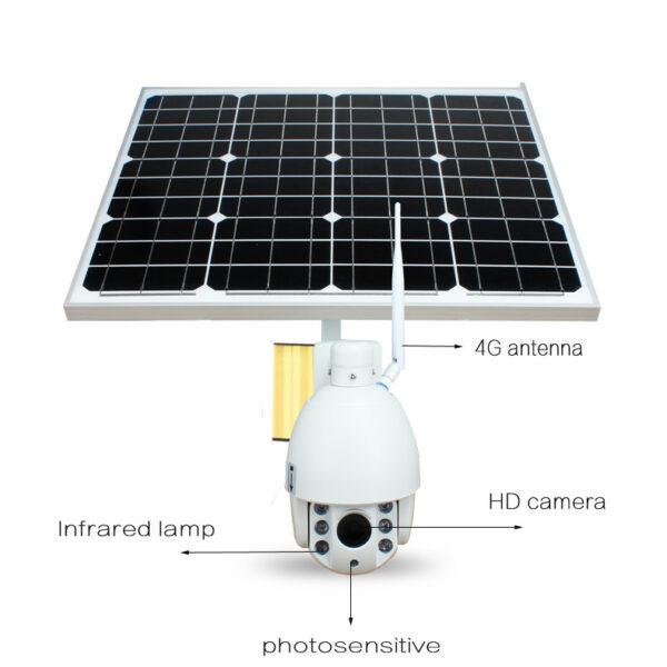 Camaras de Videovigilância sem fios, Painel Solar, rotativas, cartão SIM 2
