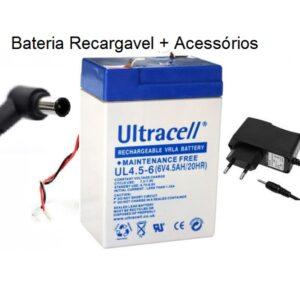 Baterias recargáveis 6V