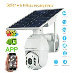 Câmara de vigilância energia solar 4G